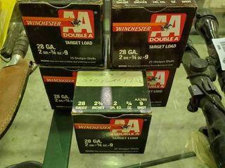 5 Boxes of Winchester 28 Gauge Shotgun Shells