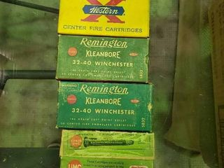4 Boxes of 32 40 Winchester Ammunition