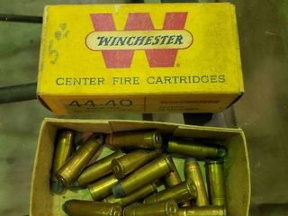 Winchester 44 40 Partial Box of Ammunition