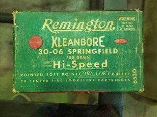 Remington 30 06 Partial Box of Ammunition