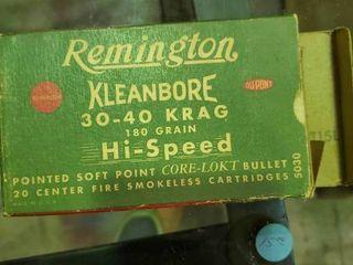 Partial Box of Remington 30 40 Krag Ammunition
