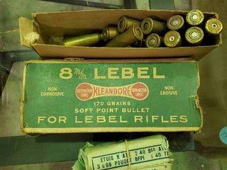 2 Partial Boxes of 8mm lebel Ammunition