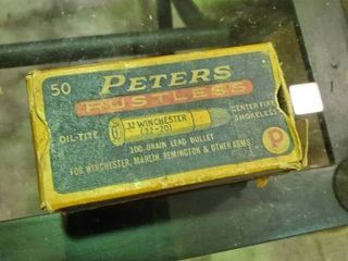 Partial Box of Peters Rustless 32 20 Ammunition