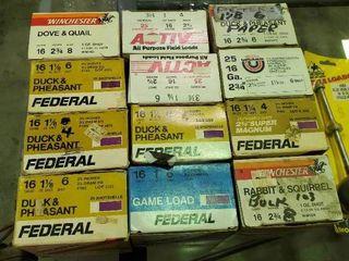 12 Boxes of 16 Gauge Shotgun Shells