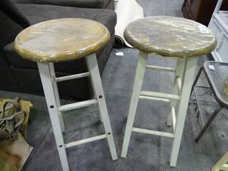 Two Rustic Barstools