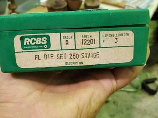 250 Savage Reloading Dies