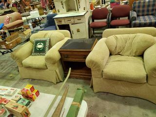 2  Pair of Over Sized Arm Chairs