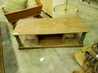 Small Wooden Coffee Table  H  14  l  47  W  19