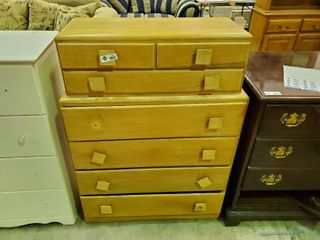 Wooden Chest of Drawers  H  47  l  34  W  14