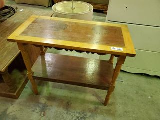 Wooden Entryway Table  H  25  l  30  W  15