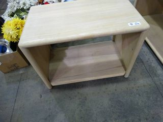 white wood end Table