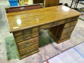 Wooden Desk  H  30  l  55  W  24