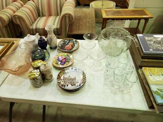 large lot of Glassware and various home Decor