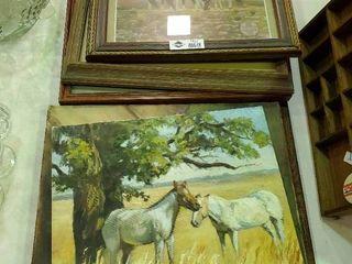 lot of Framed Native American Artwork