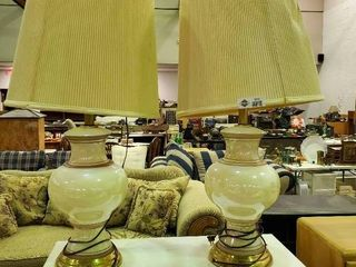 2  large High End Matching lamps