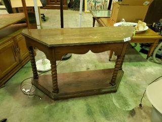 Wooden Sofa Table  H  27  l  48  W  14