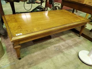 large Coffee Table on Casters  H  18  l  58  W  30
