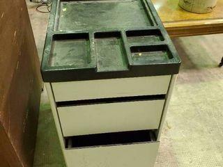 Metal Filing Cabinet on Wheels