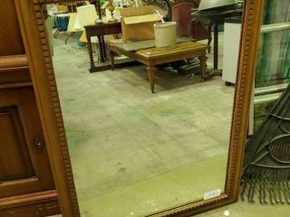 large Wood Framed Mirror  l  33  W  43