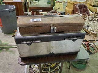 Vintage Craftsman Toolbox w  Misc  Tools and empty plastic toolbox