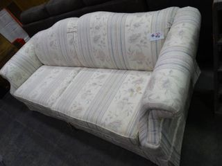 White Floral Queen Sized Sleeper Couch