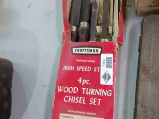 Craftsman 4 piece Wood Turning Chisel Set