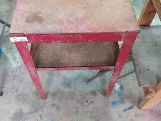 Small Metal Tool Table w  open hatch  H  29  l  20  W  14