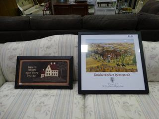 Decorative Wood Plaque and Framed Print