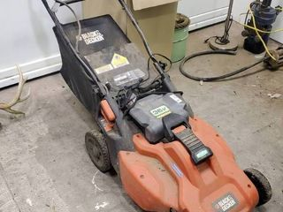 Black   Decker 36v Electric Mower w  Charger and Batt   Works Well