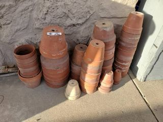 large lot of Clay Pots