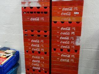 lot of Plastic Coca Cola Crates