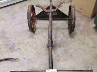 Vintage wheeled type extinguisher cart