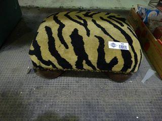 Tiger Print Foot Stool