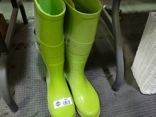 lime Green Size 8 Rubber Boots