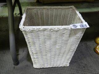 White Woven Basket Hamper