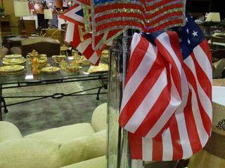 lot of American Flag Themed Decor