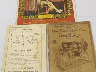 VINTAGE SONG BOOKS