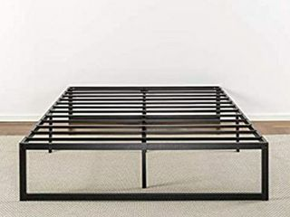 Zinus Abel 14 Inch Metal Platform Bed Frame   Mattress Foundation   No Box Spring Needed   Steel Slat Support   Easy Quick lock Assembly  Queen