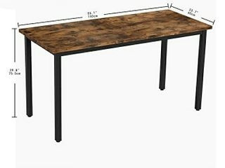 IRONCK Computer Desk  55  Office Desk with 0 7  Thicker Tabletop  1 6  Sturdy Metal Frame  Simple Study Writing Table  Industrial Style Gaming Desk Table for Home Office Vintage Brown