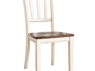 Signature Design by Ashley Whitesburg Dining Room Chair  Brown Cottage White