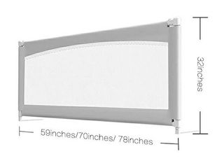 MAYbabe Bed Rails for Toddlers Extra long and Tall Infants Guardrail for The Side of King   Queen   Cal King Bed and for The Foot of King Bed  78in 1pack