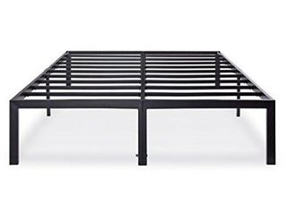 Olee Sleep OlR14BF04Q Heavy Duty Steel Slat Bed Frame T 3000  Queen