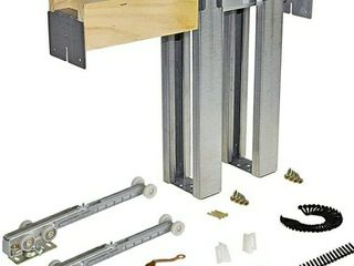 Johnson Hardware 1500 Soft Close Series Commercial Grade Pocket Door Frame For 2x4 Stud Wall  36 inch x 80 inch