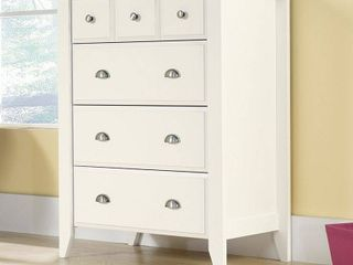 Sauder Shoal Creek 4 Drawer Dresser  Soft White finish