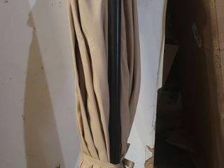 9ft Tan Crank Umbrella Base Not Included  One Arm Is Broken Off