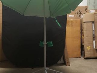 Ultimate Wondershade 6ft Green Umbrella With Foldable Base And Cup Holder