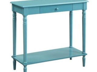 Convenience Concepts French Country Hall Table with Drawer and Shelf  Blue