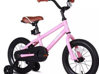Joystar  Totem  Pink 14 Inch Kids Toddler Training Bicycle w Training Wheels  Rubber Tires    Coaster Brake  Ages 3 to 5