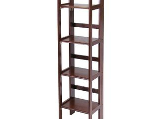 51 34  Terry Folding Bookcase Walnut   Winsome