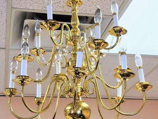 Gorgeous 16 Arm Golden Brass Chandelier